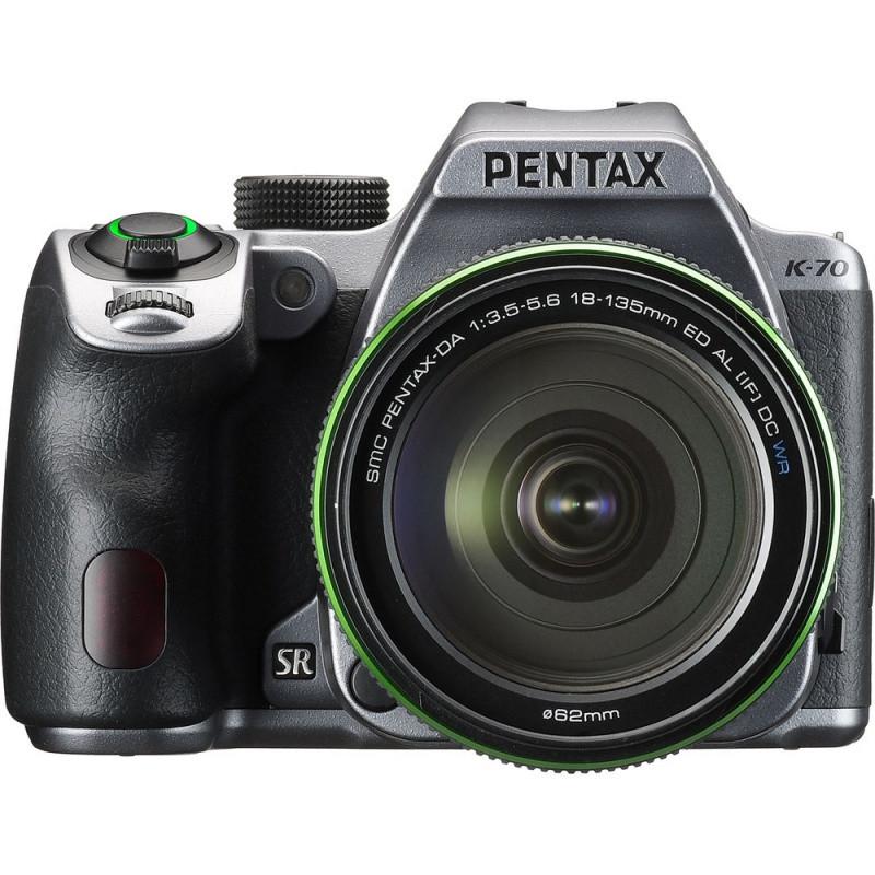 Фотоапарат PENTAX K-70 kit DA 18-135 WR Black Silky Silver /під замовлення