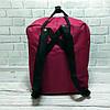 Молодежный рюкзак, сумка Fjallraven Kanken Classic, канкен класик. Бордовый с черным / 7104, фото 7