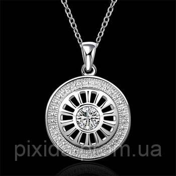 Подвеска Солнце на цепочке покрытие 925 серебро