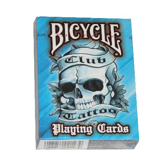 Карты игральные   Bicycle Club Tattoo Blue
