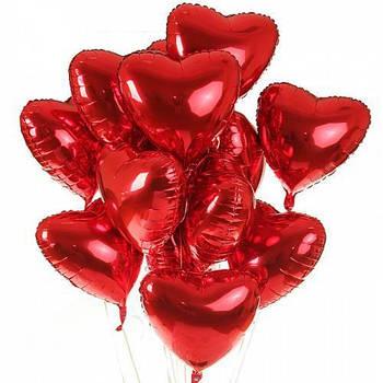 Шарики фольгированные в форме сердца без надписи