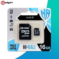 Карта памяти microSDHC 16 ГБ Hi-Rali 10 class