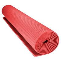 Коврик для йоги каремат Profi Fitness (173x60 см.) цвет - красный