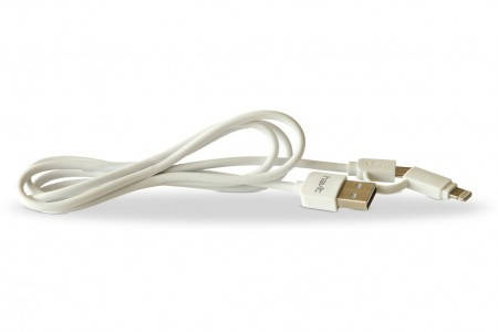 Кабель для передачі даних смартфона Havit HV-CB610X lightning+micro usb white, фото 2