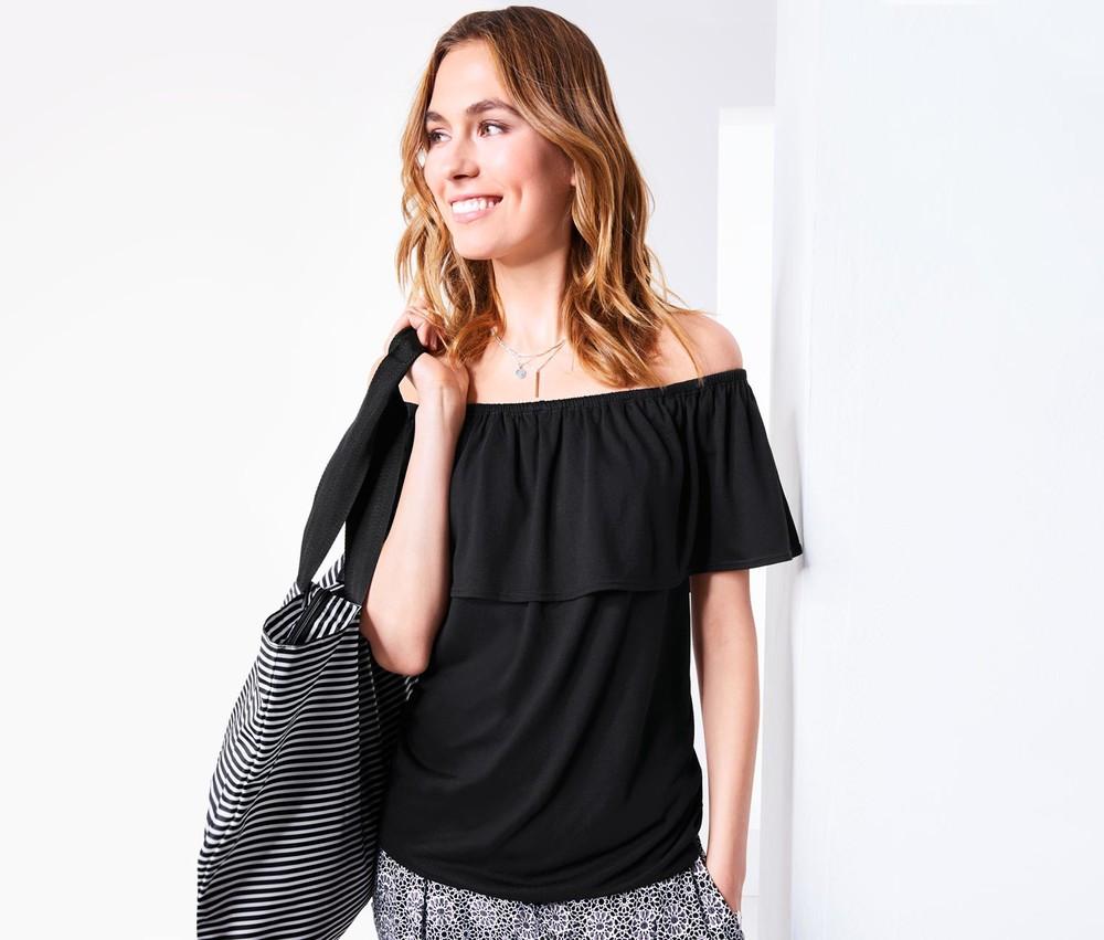 Красивая блуза с воланами от тсм Чибо (Tchibo), Германия, размер 42-44