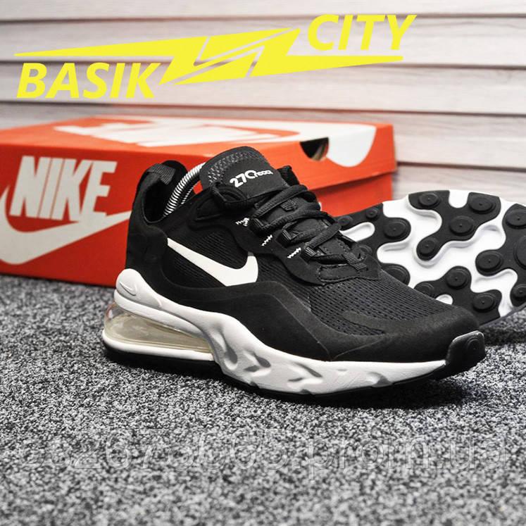 Мужские кроссовки Nike Air Max 270 react Black White