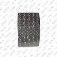 Металлизированные наклейки CANNI M-006 серебро