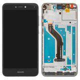 Дисплей (экран) для Huawei P9 Lite VNS-L21 с сенсором (тачскрином) и рамкой черный Оригинал, фото 2