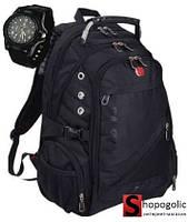 Рюкзак Городской для Ноутбука в стиле Swissgear 8810 35л c Часами