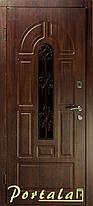 Уличные входные двери Арка 4 винорит, стекло, ковка, фото 2