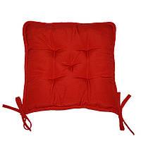Подушка на стул Кедр на Ливане квадратная стеганная серия Sky 37x37x8 см Красный (1106)