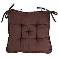 Подушка на стул Кедр на Ливане квадратная стеганная серия Sky 37x37x8 см Коричневый (1107)