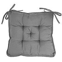 Подушка на стул Кедр на Ливане квадратная стеганная серия Sky 37x37x8 см Серый (1109)