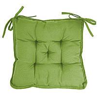 Подушка на стул Кедр на Ливане квадратная стеганная серия Sky 37x37x8 см Оливковый (1110)