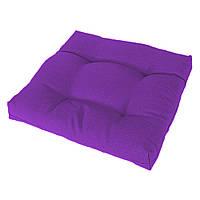 Подушка на стул Кедр на Ливане квадратная стеганная серия Color mini 35x35x5 см Фиолетовый (1111)