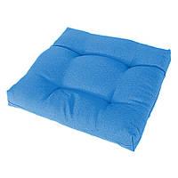 Подушка на стул Кедр на Ливане квадратная стеганная серия Color mini 35x35x5 см Голубой (1117)