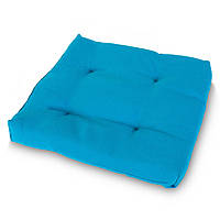 Подушка на стул Кедр на Ливане квадратная стеганная серия Color mini 35x35x5 см Бирюза (1119)
