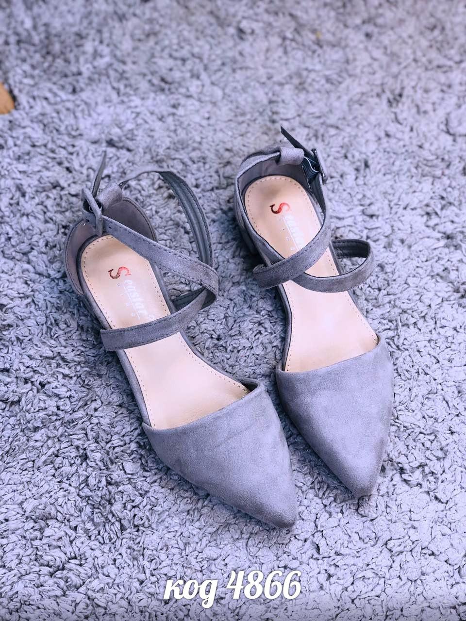 Женские замшевые открытые туфли лодочки балетки с ремешком на низком каблуке