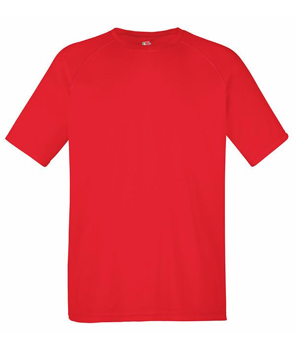 Мужская спортивная футболка S, 40 Красный