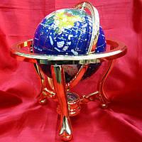 Глобус с камнями и компасом