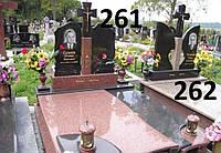 Ексклюзивнийт подвійний комплекс пам'ятник із граніту з закритим квітником та хрест
