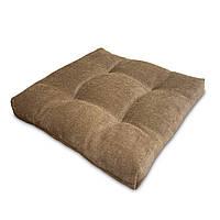 Подушка на стул Кедр на Ливане квадратная стеганная серия Color mini comfort 35x35x5 см Бежевый (1131)