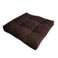 Подушка на стул Кедр на Ливане квадратная стеганная серия Color mini comfort 35x35x5 см Коричневый (1138)