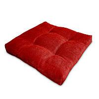 Подушка на стул Кедр на Ливане квадратная стеганная серия Color mini comfort 35x35x5 см Красный (1146)