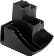 Подставка для офисных принадлежностей пластиковая Спектр, черная (ПH-2ч)
