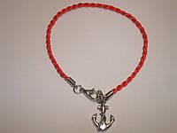 Красная нить Каббала с оберегом «Якорь», фото 1