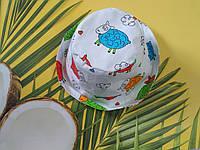Хлопковая панамка от солнца размер 44-46 см, фото 1