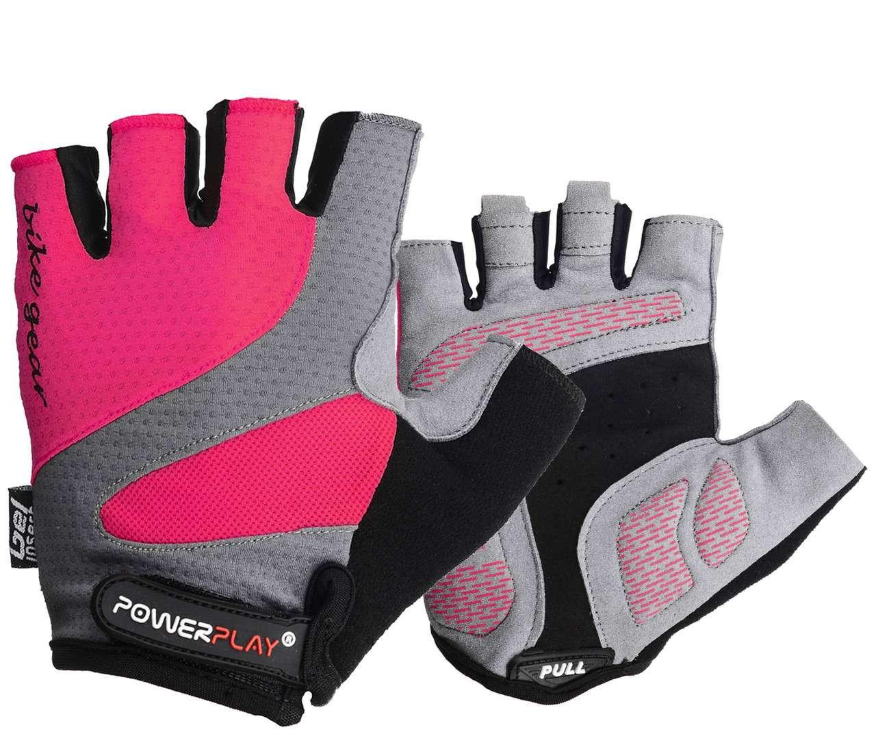 Велорукавички PowerPlay 5004 А Рожеві M - 144754
