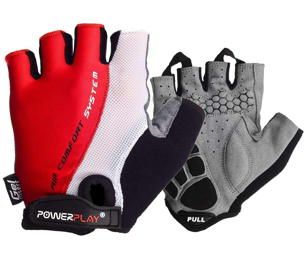 Велорукавички PowerPlay 5010 D Біло-червоні XS - 144726