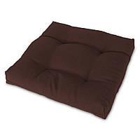 Подушка на стул Кедр на Ливане квадратная стеганная серия Color mini 35x35x5 см Коричневый (2123)