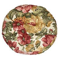 Подушка на стул Кедр на Ливане Molly круглая стеганная серия Elit 42x42x8 см Цветы (1163)