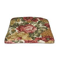 Подушка на стул Кедр на Ливане Helena квадратная серия Elit 40x40x4 см Цветы (1164)