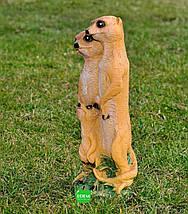 Садовая фигура Семья сусликов (сурикатов), фото 2