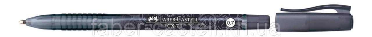 Шариковая ручка Faber-Castell СХ 7 черная с перманентными чернилами 0.7 мм, 256899