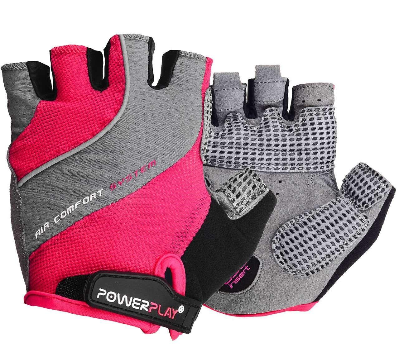 Велорукавички PowerPlay 5023 Рожеві XS - 144530