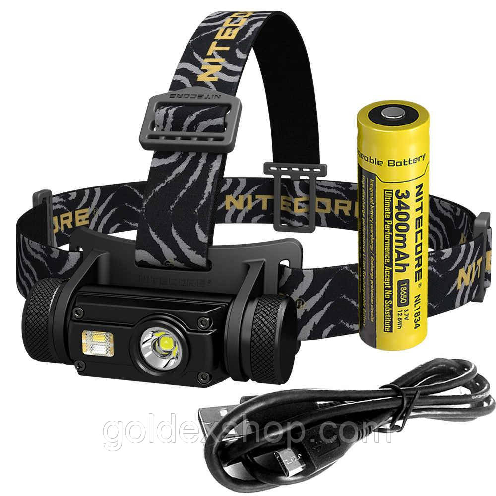 Налобный фонарь Nitecore HC65 (Cree XM-L2 U2 + RED LED, 1000 люмен, 12 режимов, 1x18650, USB)