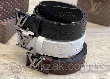 Мужской кожаный ремень Louis Vuitton 40 мм., реплика 930920, фото 2