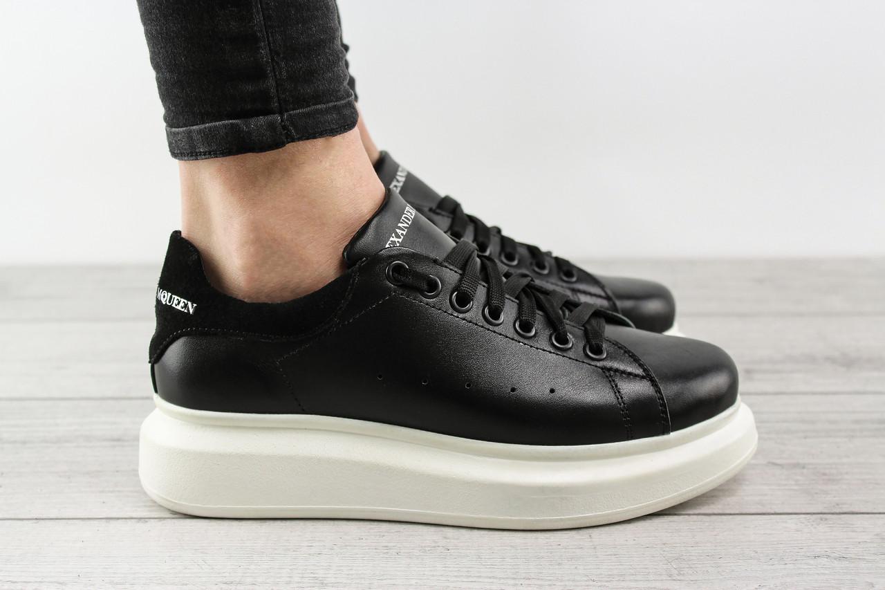 Женские кроссовки Alexander McQueen (Александр Маккуин, Маквин) - черные