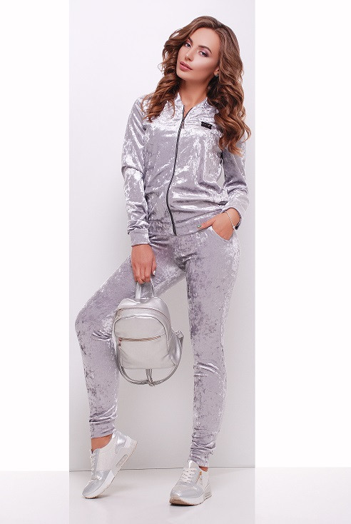 Спортивный костюм Вели светло-серый (42-50)