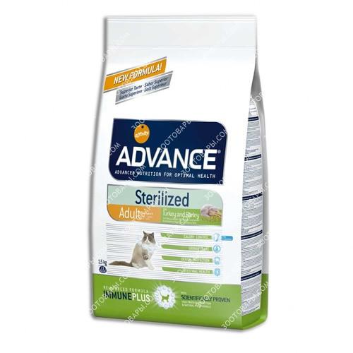 Advance (Эдванс) Cat Sterilized корм для стерилизованных кошек c индейкой и ячменем, 15 кг