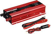 Преобразователь UKC авто инвертор 12V-220V 2000W LCD KC-2000D + USB Red