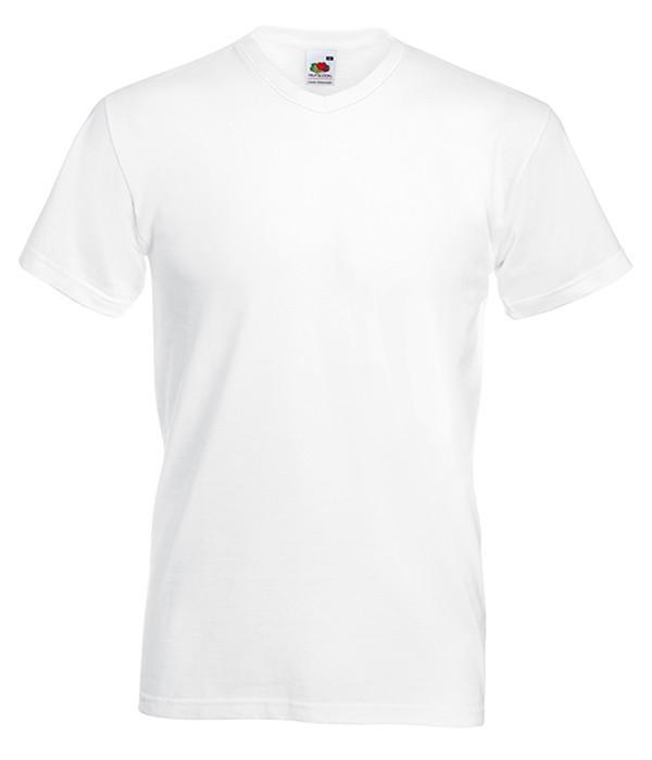 Чоловіча футболка з v-подібним вирізом S, 30 Білий