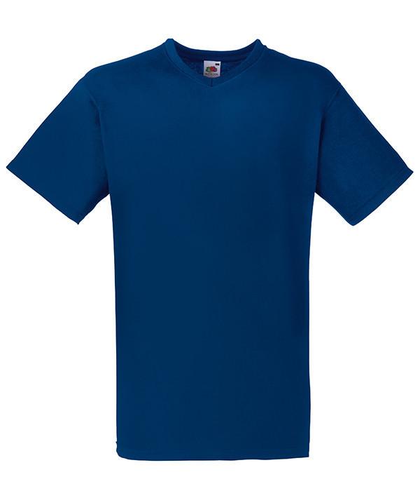 Мужская футболка с v образным вырезом S, 32 Темно-Синий