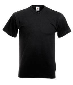 Мужская футболка с v образным вырезом S, 36 Черный