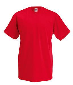 Мужская футболка с v образным вырезом S, 40 Красный