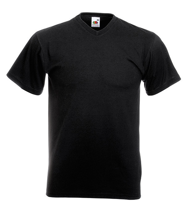 Мужская футболка с v образным вырезом M, 36 Черный